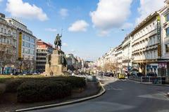 Exterior views of buildings in Prague Royalty Free Stock Photos