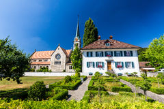 Exterior views of  the St. Sebastian Church of Wettingen Royalty Free Stock Photography