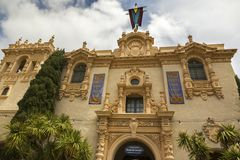 Visitor Center Prado Restaurant Entrance Balboa Park San Diego stock photography
