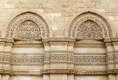Exterior wall of Al-Hakim mosque ,Cairo, Egypt. Royalty Free Stock Image