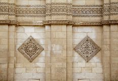 Exterior wall of Al-Hakim mosque ,Cairo, Egypt. Stock Photos