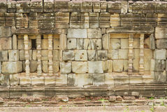 Exterior of the wall of the Bakong temple ruin in Siem Reap, Cambodia. Stock Photo