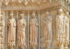 Exterior wall of Cathedral Our Lady of Reims Stock Images