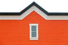 Exterior wall orange siding window and roof trim Royalty Free Stock Photography