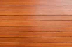 An exterior wall surface of horizontal wooden planks painted Royalty Free Stock Photo