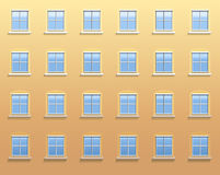 Exterior Wall Windows Stock Photo