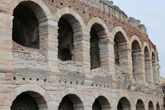 Exterior walls of the ancient Roman Arena in Verona Stock Photo