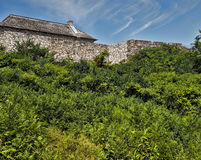 Exterior walls of Fort Ticonderoga Royalty Free Stock Image