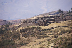 Exterior walls of Inca ruins Stock Photography