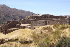 Exterior walls of Inca ruins Stock Images