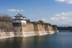 Exterior walls of the Osaka-jo castle, Japan Stock Photo