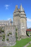 Vitre Castle, France. Exterior walls and towers of Vitre Castle Stock Photo