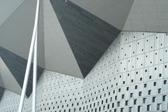 Exterior Walls of Triangles Stock Photography