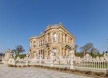 Exterior wide angle view of Kucuksu Palace or Goksu Pavilion royalty free stock image