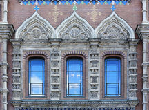 Exterior windows of a mosaic on the Church of the Savior on Spil Royalty Free Stock Photos