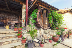 Exterior of a wine house.  Royalty Free Stock Photos