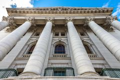 Exterior of Wisconsin State Capital building. Exterior high view of state capital in Madison, Wisconsin Stock Images
