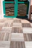 Exterior wood pavement Royalty Free Stock Photography