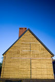 Exterior of wooden building Stock Photo