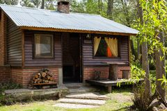 Exterior Of Wooden Cabin Royalty Free Stock Photography