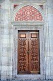 Exterior wooden door of Shehzade Mehmet mosque in Istanbul Royalty Free Stock Photo