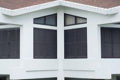 Exterior wooden window. Royalty Free Stock Photo