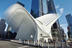 Exterior of the WTC Transportation Hub Stock Photography