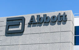 Exterior y logotipo de Abbott Laboratories Imagen de archivo