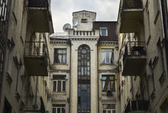 Facade of old building Royalty Free Stock Photo