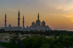 Exteriores de Sheikh Zayed Mosque Fotografia de Stock