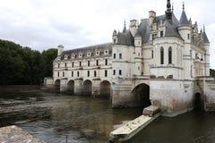 Exteriors Chateau de Chenonceau, Vallee de la Loire, France. A view in CHENONCEAUX, FRANCE, JULY 07, 2015 : exteriors and architectural details of Chateau de royalty free stock photos