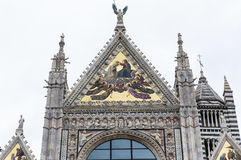 Exteriors and details of Siena cathedral, Siena, Italy Royalty Free Stock Photo