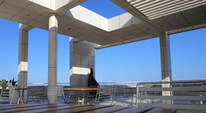 Exteriors of the Getty Center, Los angeles, California Stock Photos