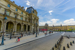 Exteriors of the Louvre Museum in Paris, France Royalty Free Stock Photography