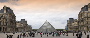 Exteriors of the Louvre museum, Paris, France Stock Photo