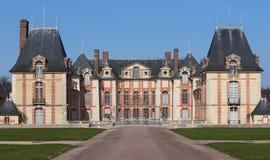Exteriors and park of Grosbois castle, Boissy saint leger, France Stock Photo