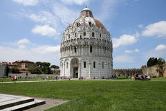 Exteriors of Pisa Baptistry, Pisa, Italy Royalty Free Stock Photos