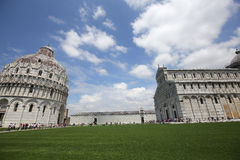Exteriors of Pisa Baptistry, Pisa, Italy Stock Photo
