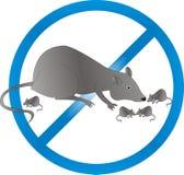 Exterminação dos ratos e dos ratos ilustração stock