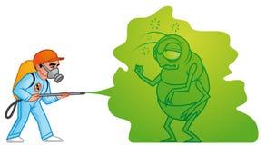 Exterminación grande del parásito stock de ilustración