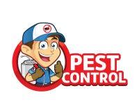 Exterminador ou controlo de pragas com logotipo Fotos de Stock
