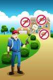 Exterminador Service Poster Imagem de Stock