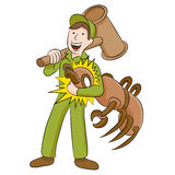 Exterminator термита Стоковая Фотография