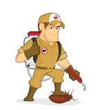 Exterminator или служба борьбы с грызунами и паразитами Стоковое фото RF