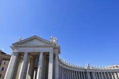 External квадрата базилики ` s St Peter, Рима Италии стоковое изображение rf
