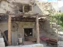 External характерного дома камня Capadoccia в Турции стоковое фото