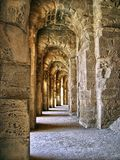 External arches. Of El Jem colisseum Stock Photography