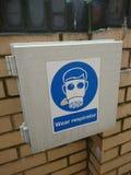 External box for respirator royalty free stock photo