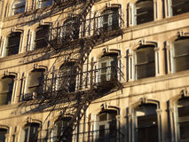 External building fire escape Royalty Free Stock Images