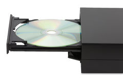 External CD-DVD player on white background Stock Photography